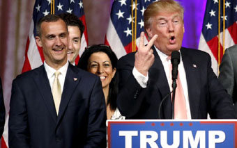 Corey Lewandowski and Donald Trump