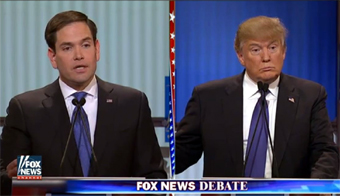 Fox News Debate, Marco Rubio and Donald Trump