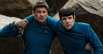 Karl Urban and Zachary Quinto