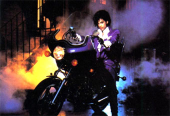 Prince on motorcycle