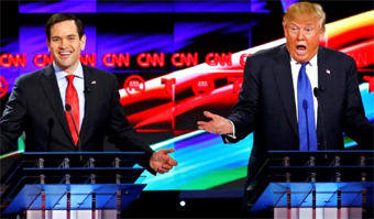 Rubio and Trump spar in the CNN Republican debate