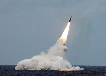 Trident II D5 missile launched from the USS Ohio near coast of Florida in August 2016