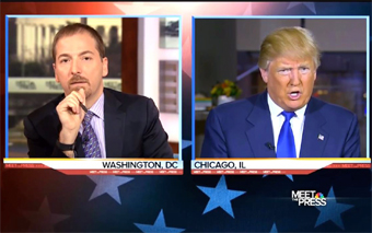 Trump talking with Chuck Todd