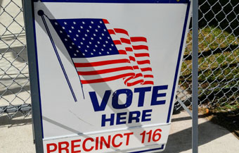 Voter precinct sign