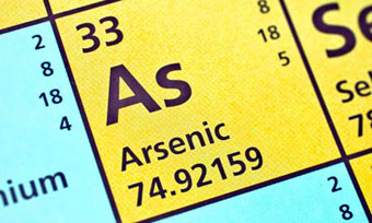 Periodic table showing Arsenic element