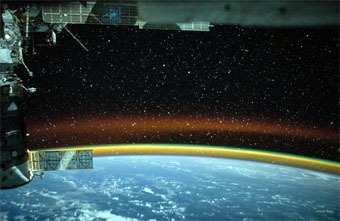 Rainbow Aurora seen from space