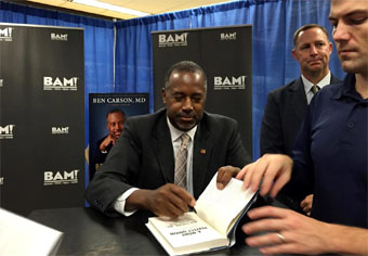 Ben Carson at book signing at BAM in Tallahassee Florida