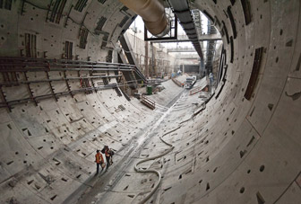 SR99 Tunnel progress in Seattle