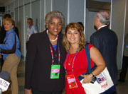 Donna Brazille (left) with alternate delegate
