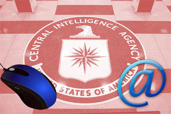 CIA logo photo compostion