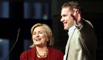Hillary Clinton and Bruce Braley campaigning in 2014