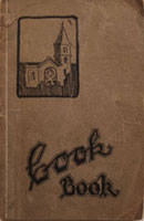 antique cookbook cover