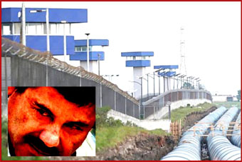 El Chapo inset with prison background