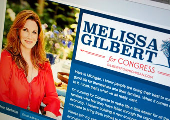 Melissa Gilbert website screenshot