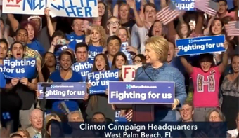 Hillary in Palm Beach Florida