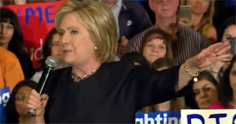 Hillary Clinton stumping in California