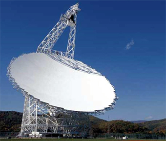Green Bank Telescope located deep in the Appalachian Mountains near the tiny town of Green Bank