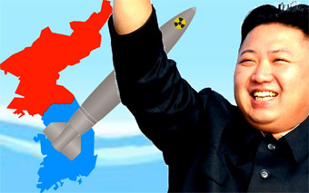 Kim Jung Un & missile photo composition