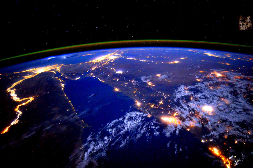 The Nile as seen from space at night
