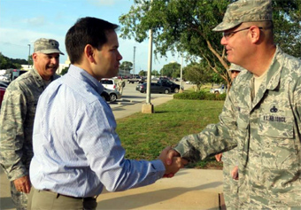 Marco Rubio at Eglin Air Force Base