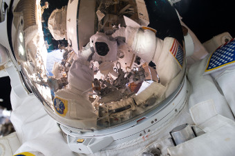 Space selfie by Scott Kelly