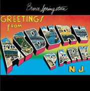 Bruce Springsteen; Greetings From Ashbury Park album cover