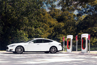 Tesla Motors Supercharger Hero 2x