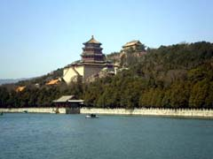 The Tower of Fragrance of Buddha across from Kunming Lake
