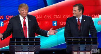 Donald Trump and Ted Cruz, GOP Debate 12/15/2015