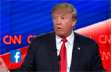 Donald Trump at last GOP debate