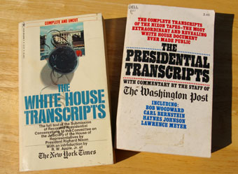 White House Scripts book covers