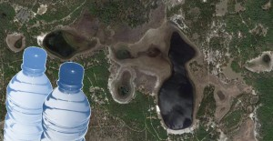 Satellite image of Lake Johnson FL, near Keystone Heights