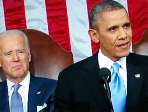 Joe Biden with President Obama, State of the Union 2014